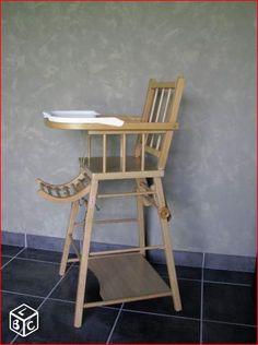 Chaise haute en bois COMBELLE Equipement bébé Côtes-d'Armor - leboncoin.fr