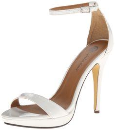 Michael Antonio Women's Lovina-PTN Dress Sandal, White, 9 M US