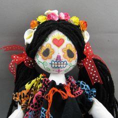 Day of the Dead Sugar Skull Art Doll  Dia De Los par devoutdolls