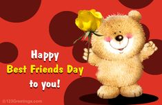 Wish a happy Best Friends Day with this ecard. Free online Friendship Wish ecards on Best Friends Day Happy Best Friend Day, Best Friends Forever, Happy Pesach, Friendship Day Wishes, Best Friend Wallpaper, Best Friend Images, Eid Mubarak Wishes, National Best Friend Day, Friends Image