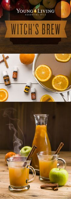 How to make Witch's Brew Punch for your Halloween Party - www.EssentialOils4Sale.com #Halloween #DIYPunchIdeas