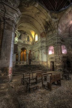 abandoned church #abandoned #places #ruins #haunted #ghost #town #wrecked #deserted #worn #neglected