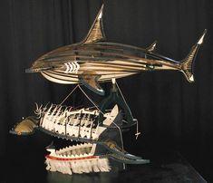 """Cette oeuvre réalisée par l'artiste aborigène Ken Thaiday a été exposée au Musée d'Art Contemporain les Abattoirs de Toulouse dans le cadre de l'exposition """"Temps du Rêve / Dreamtime"""" en 2009."""
