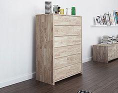 Komoda JAMES wysoka Beds, Dresser, Furniture, Home Decor, Powder Room, Decoration Home, Room Decor, Stained Dresser, Home Furnishings