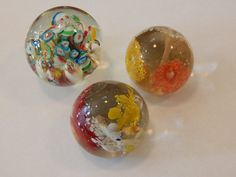 Lot Of 3 Vintage Glass Swirl Paperweights by 3FunkyMonkeys on Etsy #doubleteampromotionsocialmedia #ThreeFunkyMonkeys