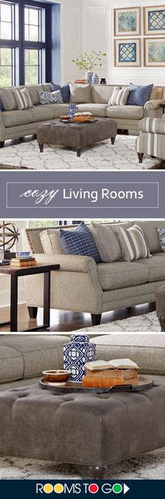 Lending a stunning tailored look with fantastic eye appeal to your home, the Piedmont sectional's casual transitional style makes it ideal for any type of decor. Shop this living room and more now!