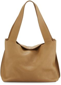 THE ROW Duplex Calfskin Hobo Bag, Khaki