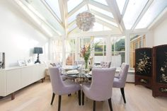 lilac chairs circular dining table #zoopla