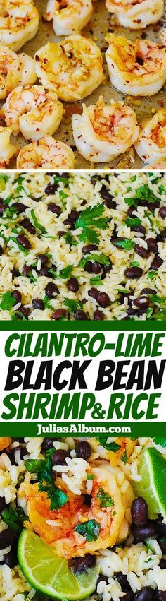 Cilantro-Lime Black Bean Shrimp and Rice - healthy, gluten free recipe