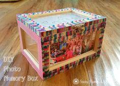DIY Photo Memory Box #RegaloDeAmorPampers via @SassyMamainLA