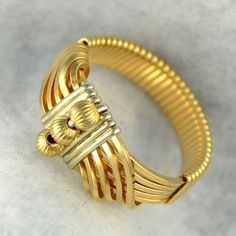 """Wire wrapped Ring 14K gold filled  sterling silver accents.  """"Sultan's Ring"""""""