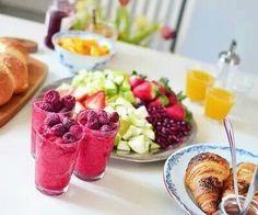 healthy summer salad ;) fruits and juice delicious