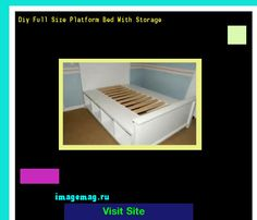 Diy Full Size Platform Bed With Storage 184845 - The Best Image Search