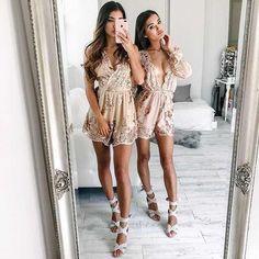 39+ Encantadoras Ideas de Outfits para Mejores Amigas Crop Top Outfits, Girly Outfits, Dress Outfits, Cute Outfits, Sexy Dresses, Sexy Maxi Dress, Summer Dresses, Ibiza Fashion, Girl Fashion