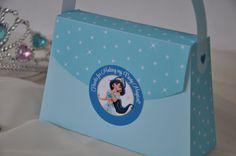 Jasmine Aladdin inspired Princess Party Purse Favor box - pdf printable party bag w/ TEXT EDITABLE back panel for Princess parties