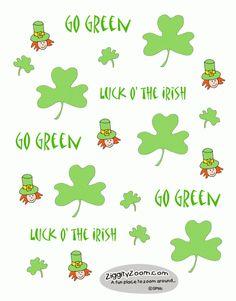 Top of the Mornin' to You!  A little Leprechaun Fun-  Printable Stickers