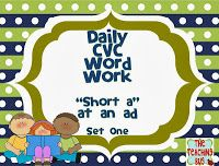 Daily CVC Word Work!  Short A The Teaching Bug!
