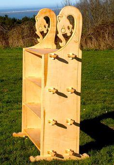 Viking style shelf. Pinned tenon joinery allows full break down of piece.