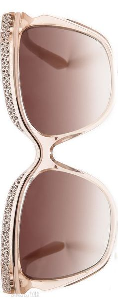 Jimmy Choo 58mm Retro Sunglasses in Nude   LOLO❤