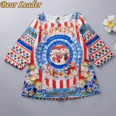 European and American Style Pattern Print Design for Kids Dress Children Clothing Winter Dress $23.12 => Save up to 60% and Free Shipping => Order Now! #fashion #woman #shop #diy www.bbaby.net/...