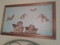#Quadro  #decoupage #angeli #cherubini #hobby #decorazioni #decori