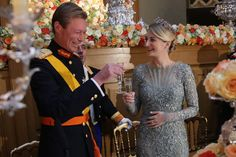 Luxembourg Royal Wedding - Pre-wedding Gala Dinner - Stéphanie de Lannoy - Elie Saab dress