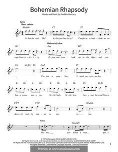 Bohemian Rhapsody Chords Bohemian Rhapsody Queen Piano Vocal Guitar Right Hand Melody. Alto Sax Sheet Music, Sheet Music Notes, Digital Sheet Music, Piano Sheet Music, Free Guitar Sheet Music, Solo Music, Music Sheets, Ukulele Tabs Songs, Music Chords