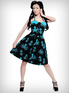 Out to Sea Octopus Dress   PLASTICLAND