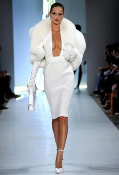 Dress in White for opening number this year and pair with a fabulous fur accessory and gloves. #rpmforthewin