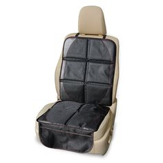 PoppyTootToot Vinyl Child Car Seat Protector with Top Straps, Adjustable Back Panel and Storage Pockets >>> Want additional info? Click on the image.