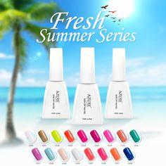 Fashion UV Gel Polish Fresh Summer Series Colors UV Gel Polish Soak-off Led Lamp Nail Gel Polish Varnish For Long-lasting Gel