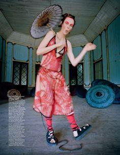 Edie Campbell in 'Gilt Trip' by Tim Walker W Magazine 12