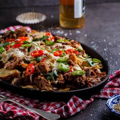 """POTATO NACHOS WITH PULLED PORK.-Follow me on  Lo, I'm going to be honest with you from the get-go today. This is the kind of food you're not meant to want to eat. It's the kind of stuff you see on Diners, Drive-ins and Dives and think """"Oh my gosh, how ridiculous"""" but secretly […]"""