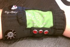 DIY sewn pip-boy from Fallout 3 (you could make a plain matching one for the other wrist, and then you'd have wrist warmers!)
