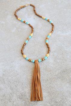 Juniper Suede Tassel Necklace
