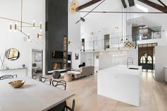 A Stunning Church Conversion in Chicago                          Contemporary Living Room by Linc Thelen Design