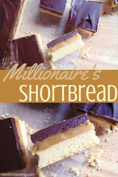 Millionaire's Shortbread: buttery shortbread base, gooey homemade salted caramel filling, and smooth chocolate topping. A real delicious classic!