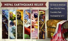 http://www.durmaplay.com/News/nepal-depremine-yardim-kampanyasi   Amerikali basarili video oyun gelistirme sirketi Hi-Rez Studios tarafindan gelistirilen ve oyuncularla bulusturulan ünlü MOBA oyunu Smite diger tüm oyunlara da örnek olacak bir etkinlik düzenliyor  Geçtigimiz ay Nepal'in baskenti Katmandu ve çevresinde meydana gelerek binlerce can ve mal kaybina sebep olan deprem felaketinin bugün de yine siddetli bir sekilde meydana gelmesi üzerine harekete geçen H