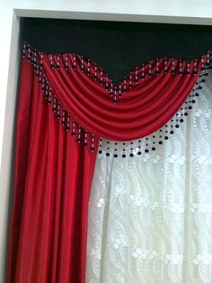 Red Valances for Living Room . Red Valances for Living Room . Curtains And Draperies, Elegant Curtains, Beautiful Curtains, Home Curtains, Modern Curtains, Colorful Curtains, Valances For Living Room, Bed Cover Design, Rideaux Design