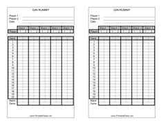 This Gin Rummy Score Sheet Has Room To Record Your Scores While Playing Gin Rummy Free To Download And Print Gin Rummy Rummy Gin Rummy Card Game