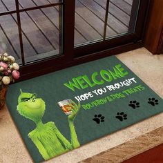 Welcome hope you brought Bourbon and Dog Treat Door Mat Dog | Etsy Funny Wolf, Name Canvas, Day Drinking, Rottweiler Dog, Shake It Off, Pet Names, Doormat, Mild Soap, Dog Photos