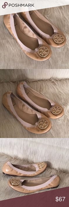 Tory Burch Nude Patent Leather Ballet Flats 9 Pre-loved Tory Burch Shoes Flats & Loafers