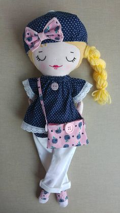 Sophie is her best friend by Bluebutterfliesworld. Doll Clothes Patterns, Doll Patterns, Tilda Toy, Homemade Dolls, Little Pet Shop Toys, Fabric Dolls, Rag Dolls, Sewing Dolls, Needle Felted Animals