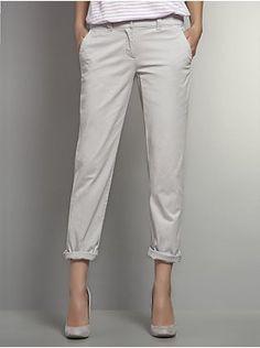 Slim Slouch Twill Pants