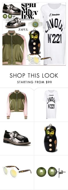 """""""Spring Day to Night"""" by paculi ❤ liked on Polyvore featuring Alexander McQueen, Honora, daytoevening and zaful"""
