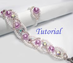 Beading Tutorial Beaded Infinity Entwined Bracelet And Ring Set