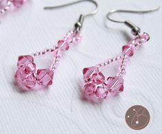 Crossweave Crystal Earrings Tutorial for by BelleJewelryDesign, $3.00