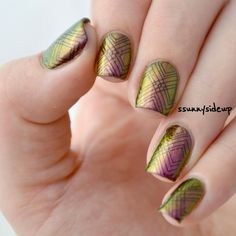"""ssunnysideup: Stamping designs with my new polish me silly polish """"mystery"""" www.ssunnysideup.com"""