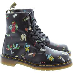 e2320340cc728 All hail the british bulldog with these pascal tattoo ankle boots in black  leather from Dr