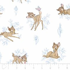 Disney Fabric- Disney's Bambi Fabric Toile in Marina Blue From Camelot